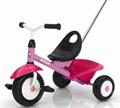 Велосипед трехколесный с корзиной и ручкой Funtrike Pink, арт. 8176-000